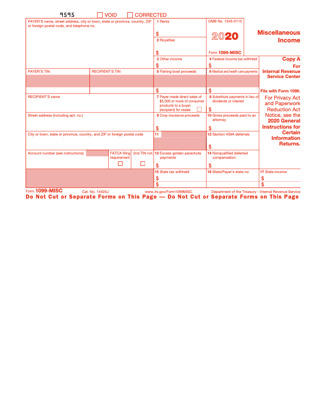 2020 1099-MISC Form