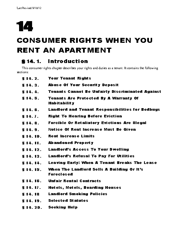 Maine Chapter 14 Tenants Rights