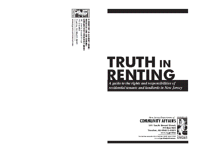 New Jersey Truth In Renting Act