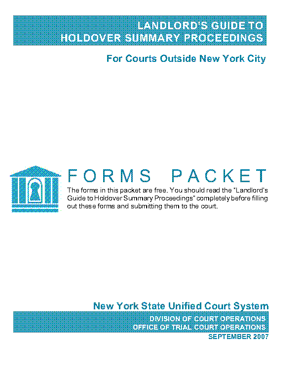 New York Outside Nyc Forms Packet