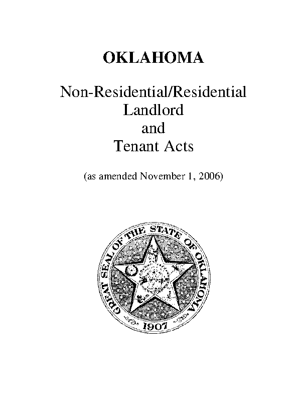 Oklahoma Landlord And Tenant Act Update