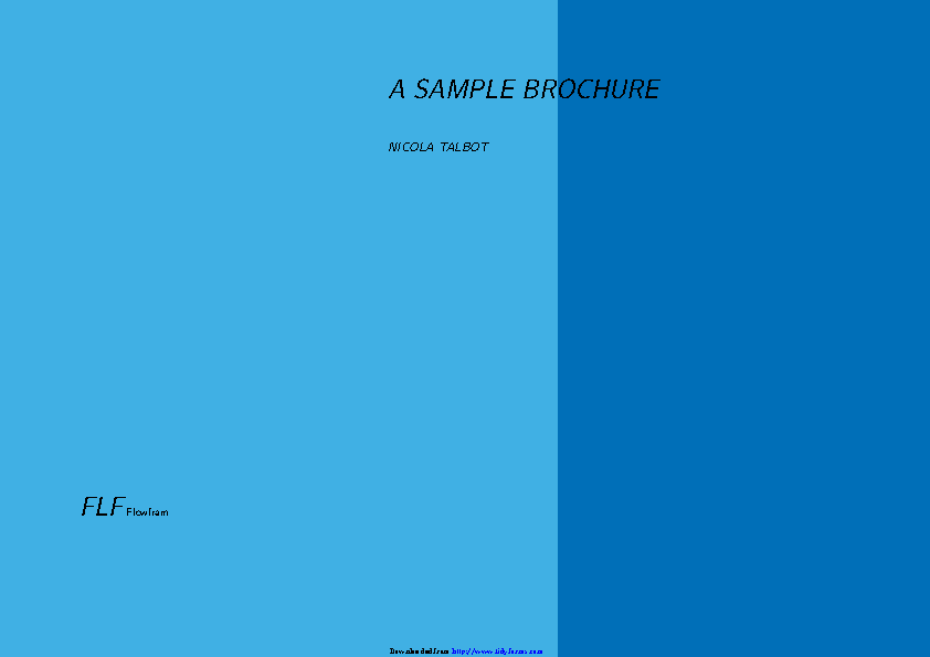 A Sample Brochure