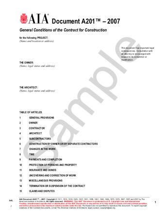 aia a101 2007 PDF