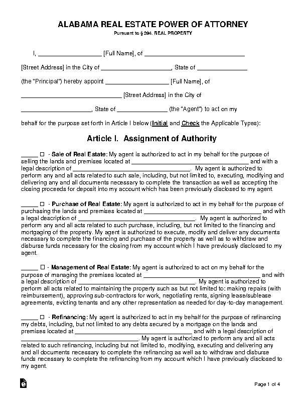 power of attorney form real estate  State Archives - Page 11 of 11 - PDFSimpli