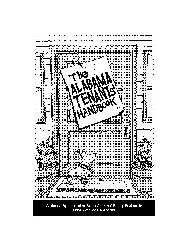 Alabama Tenants Handbook