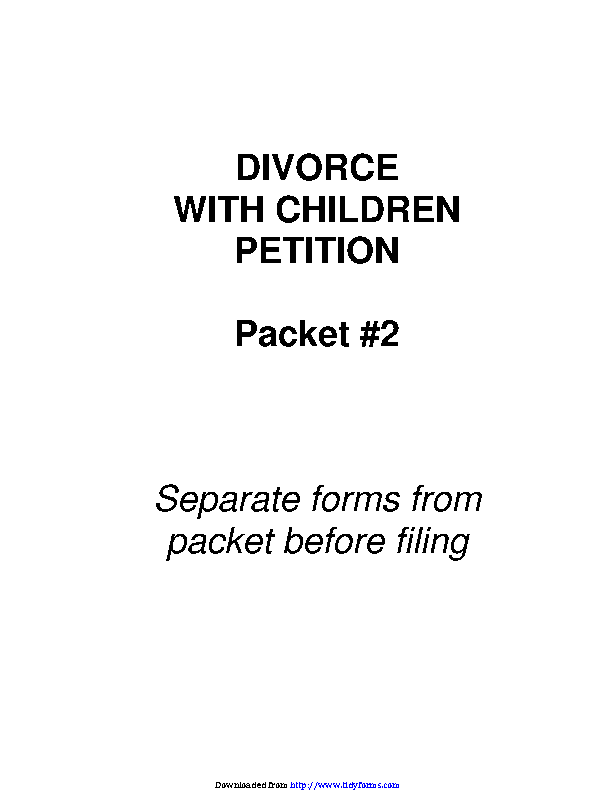 Arizona Petition Form For Divorce With Children