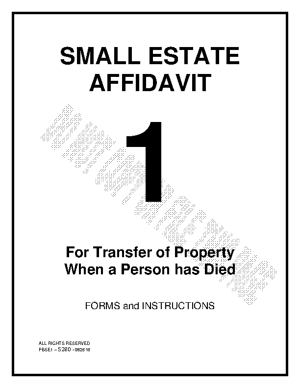 Arizona Small Estate Affidavit Form