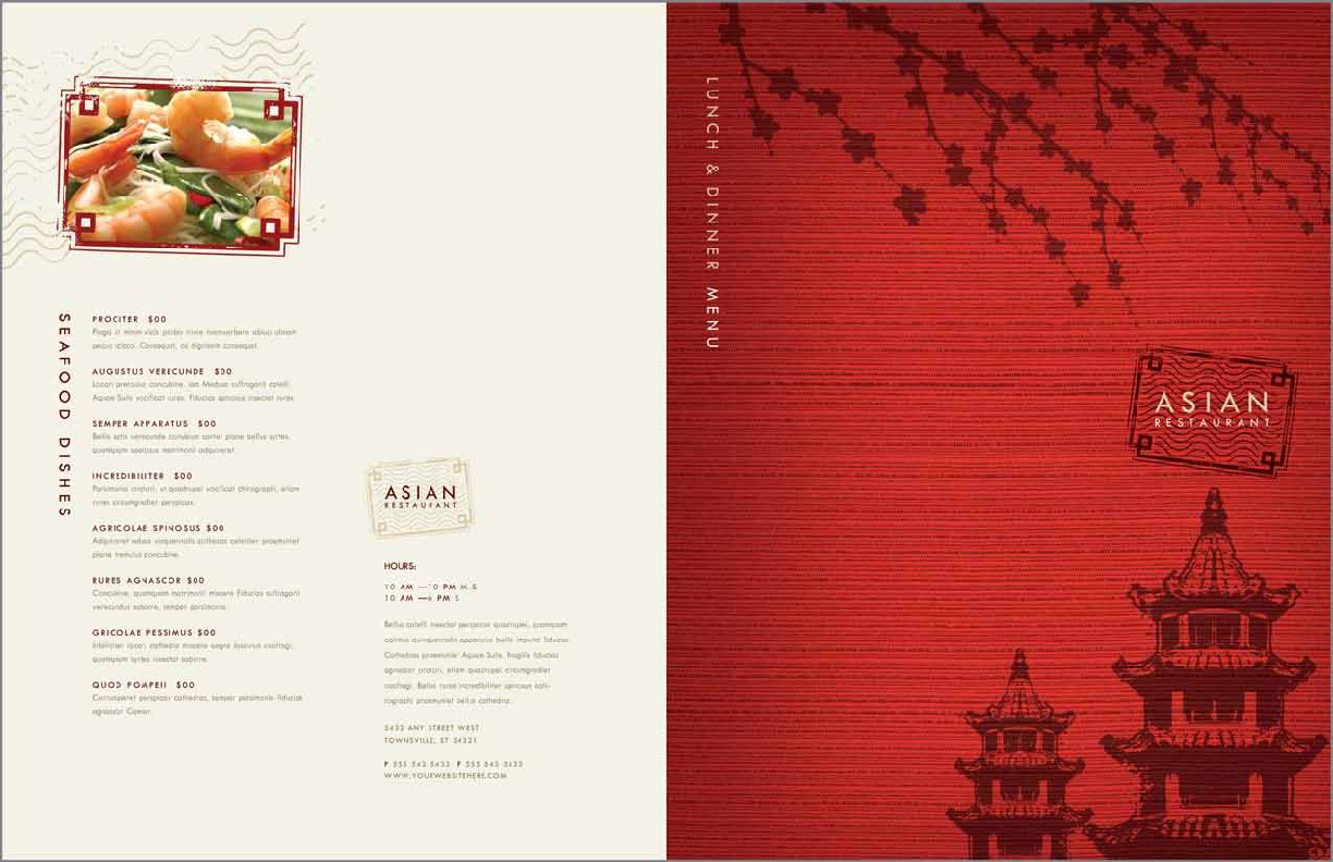 Asian Restaurant Menu Template Pdfsimpli