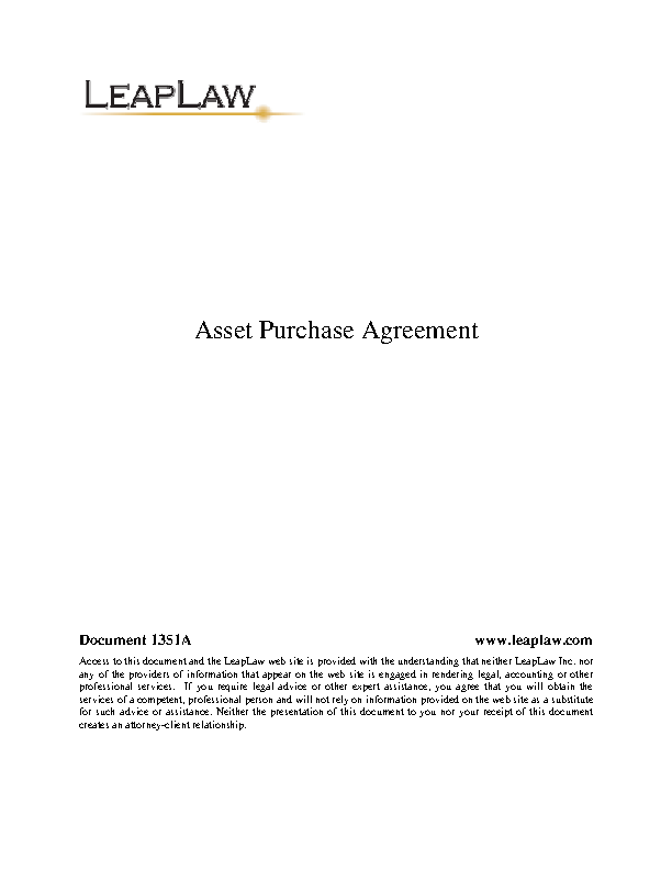 Asset Purchase Agreement 3