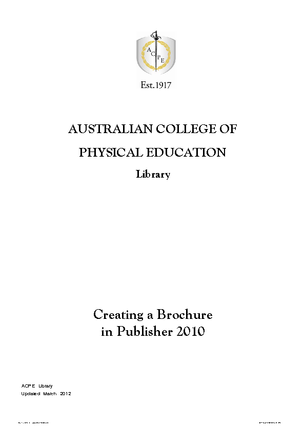 Australian College Of Physical Education