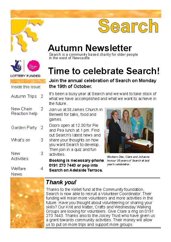 Autumn Celebration Newsletter