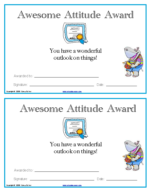 Awesome Attitude Award