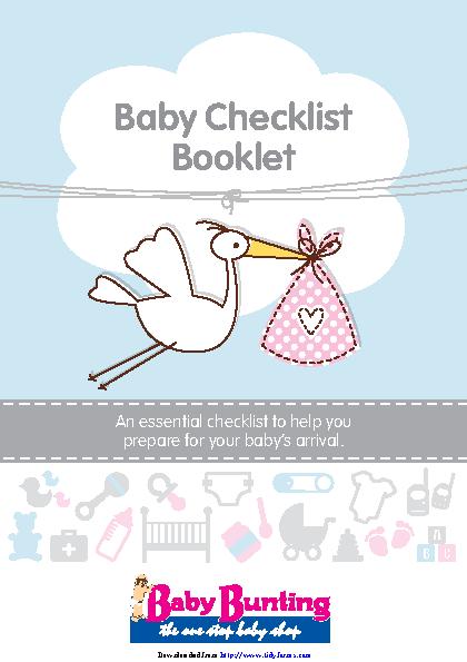Baby Checklist Booklet