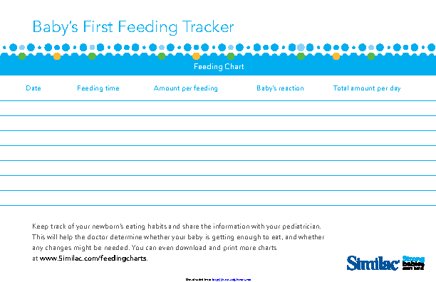 Babys First Feeding Tracker