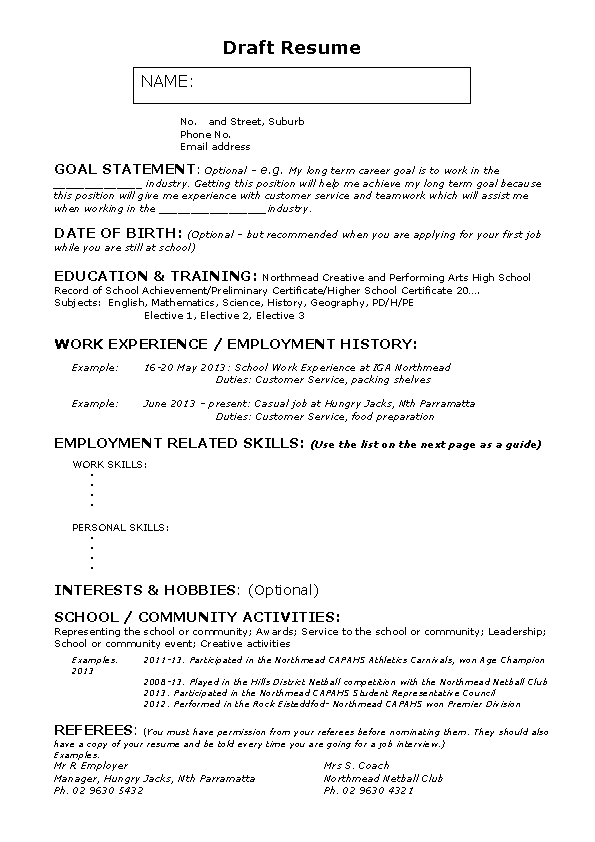 Babysitter Experience Resume