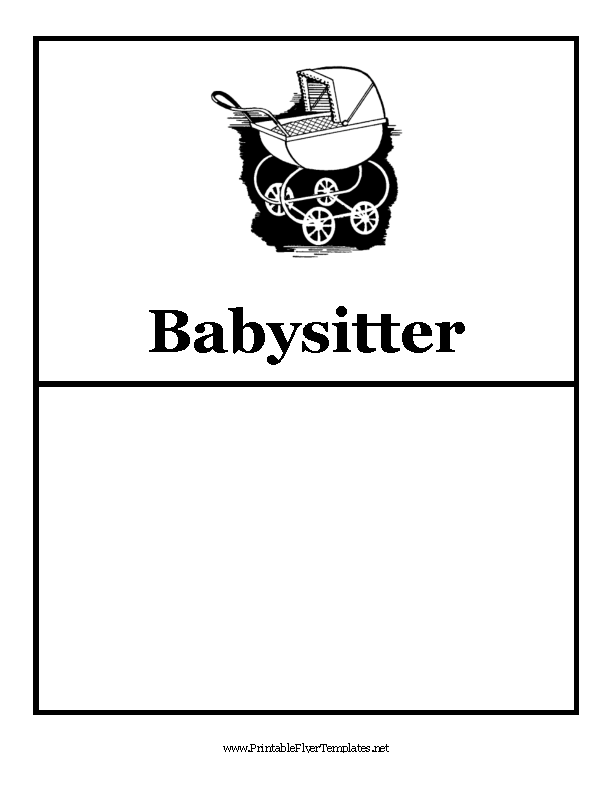 Babysitting Flyer 1