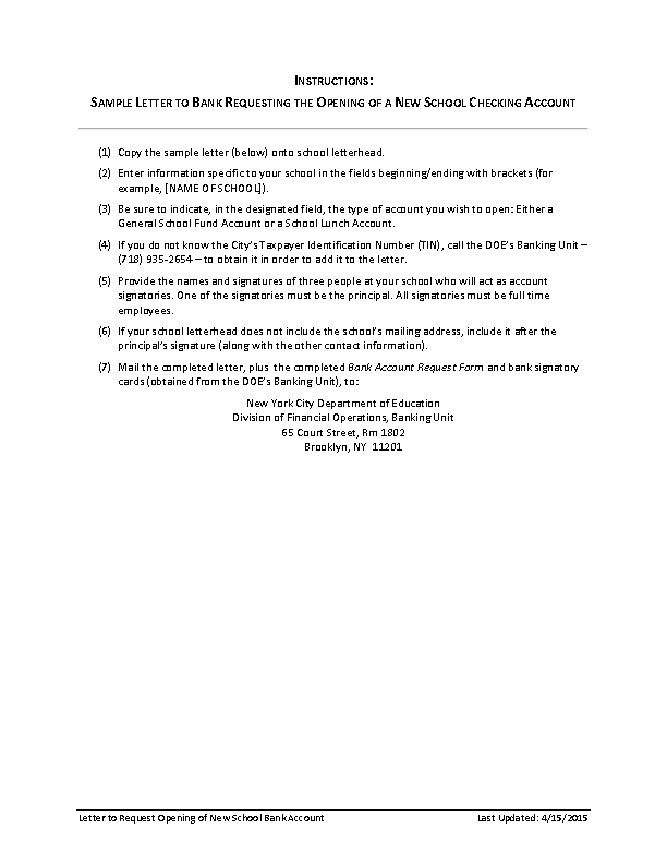Bank Reference Letter For Account Opening Template