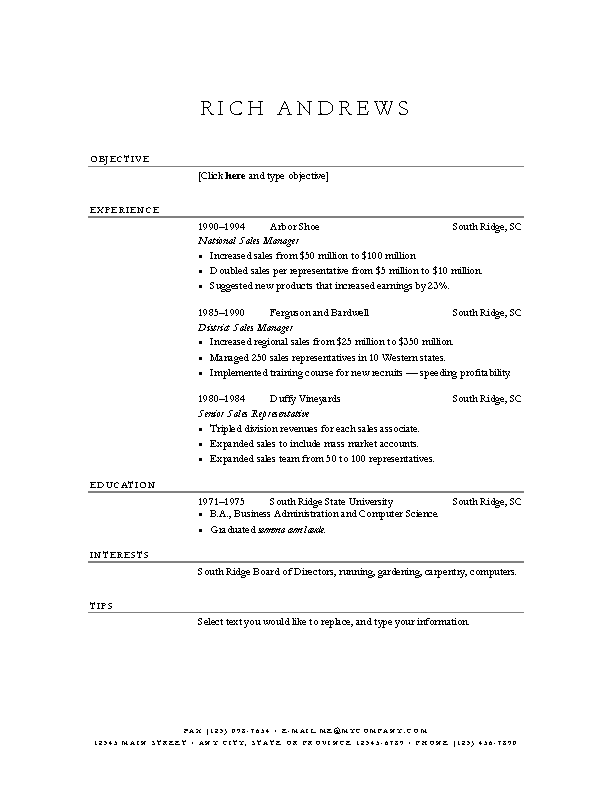 Basic Elegant Resume