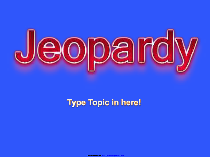 Basic Jeopardy Template