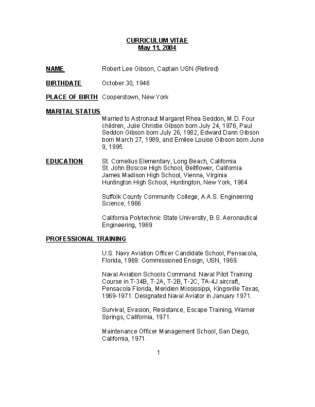 Basic Pilot Resume Templates
