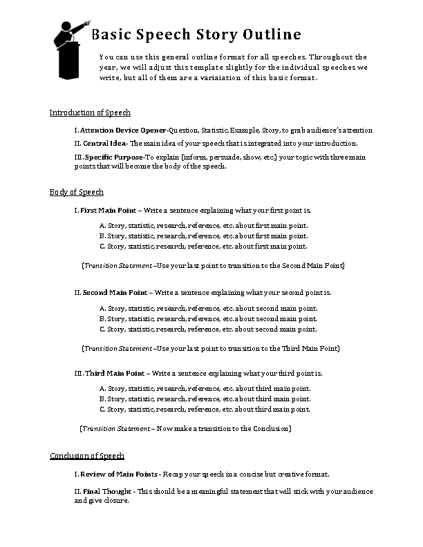 Basic Story Outline Template