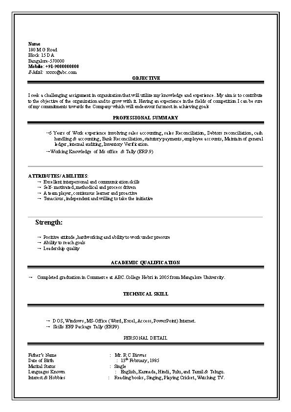 Bcom Graduate Resume1