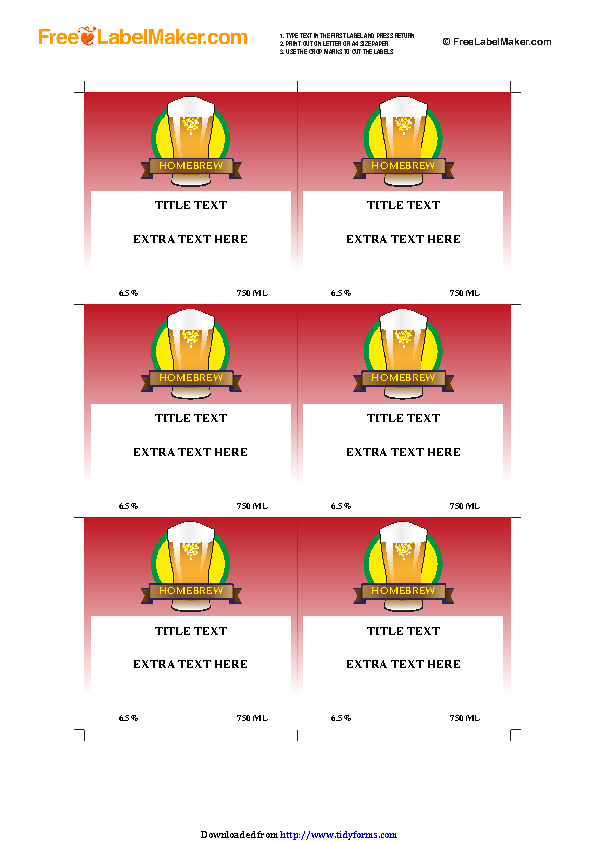 Beer Label Template 2