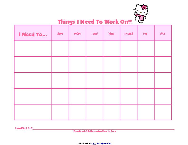 Behavior Chart For Kids 2