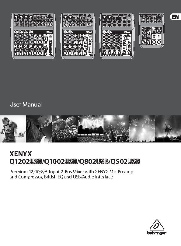 Behringer Owners Manual Sample