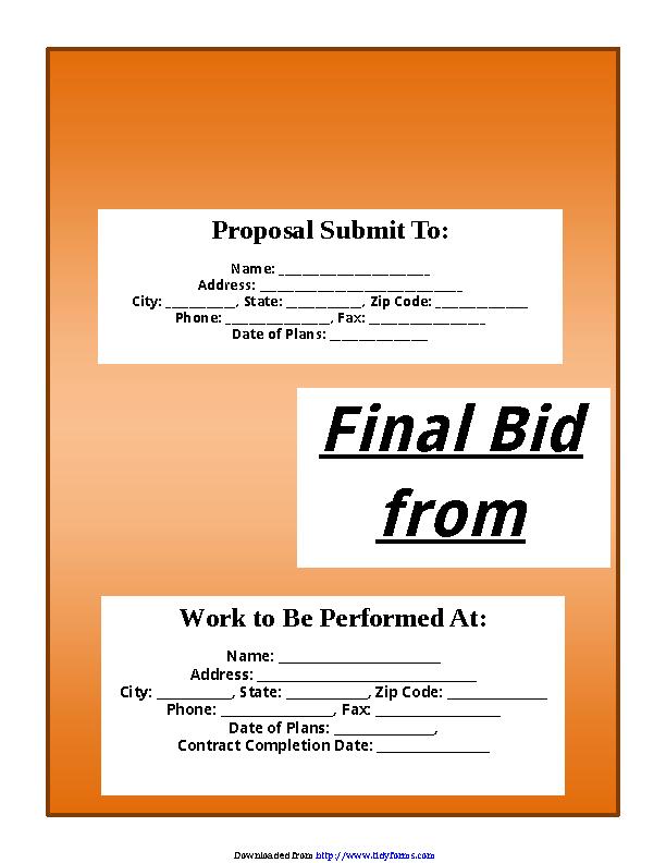 Bid Proposal Template 1