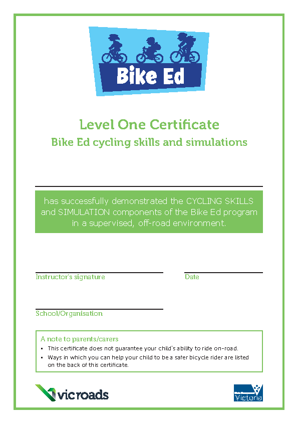 Bikeedlevel1Certificatepdf