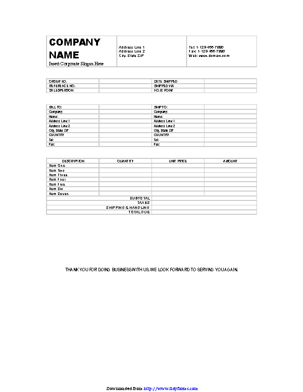 Billing Invoice Template 3