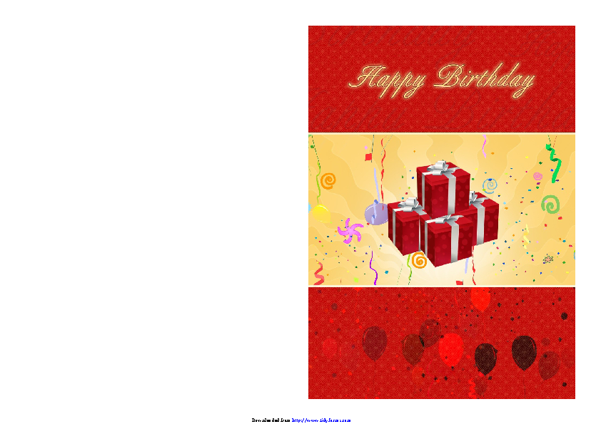Birthday Card Template 2