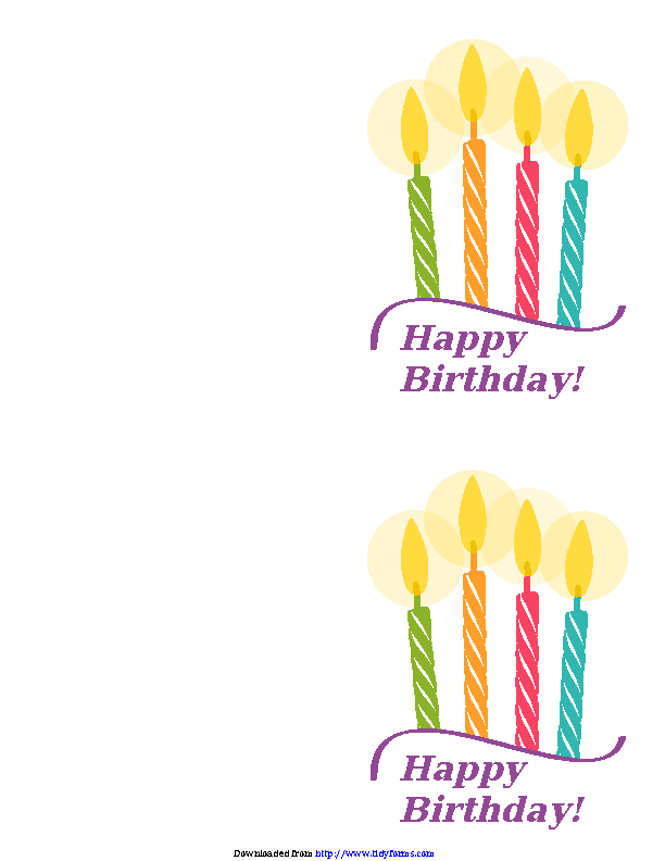Birthday Card Template 3