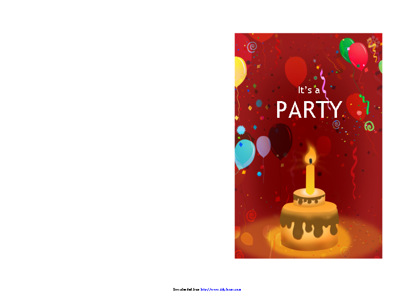 Birthday Invitation Template 1