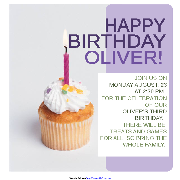 Birthday Invitation Template 2
