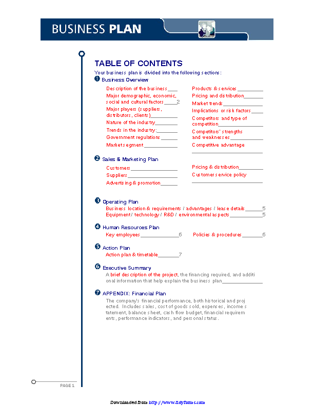 Business Plan Archives Page 13 Of 16 Pdfsimpli