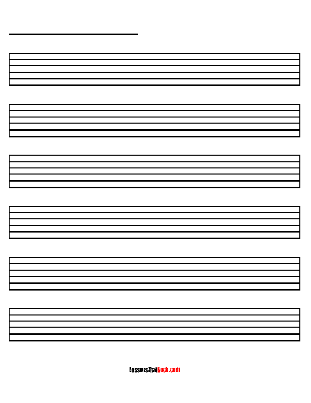 Blank Guitar Tab Sheet