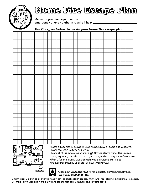 Blank Home Evacuation Plan Template