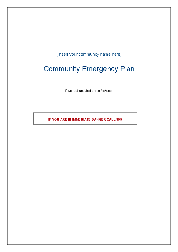 Blank Meeting Agenda Template For Emergency Example