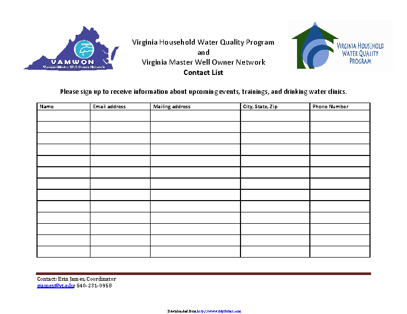Blank Sign In Sheet Pdf