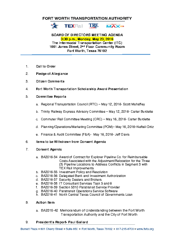 Board Of Directors Strategy Meeting Agenda Template