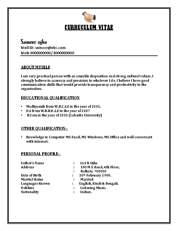 Bpo Call Centre Resume Sample