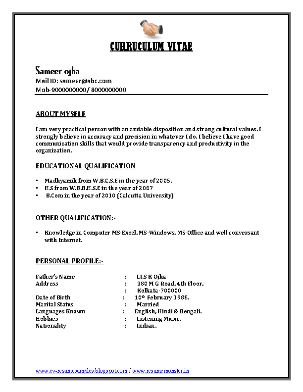 Bpo Call Centre Resume Sample1