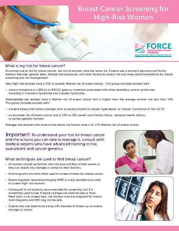 Breast Cancer Screening Brochure Free Download