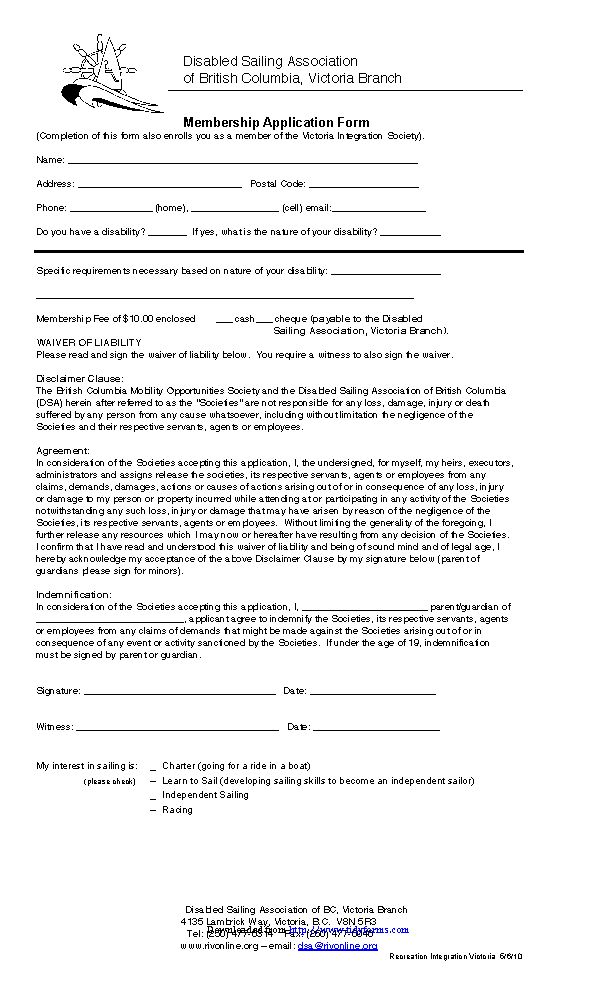 British Columbia Medical Information And Release Form
