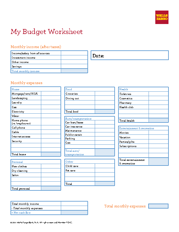 Budget Spreadsheet Template