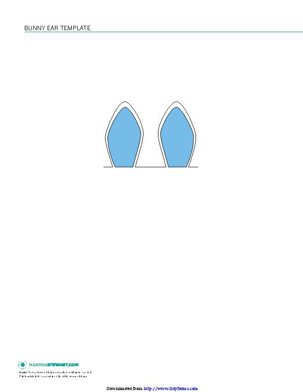 Bunny Ear Template 3