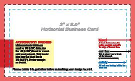 Business Card Layout Template Horizantal 2X35
