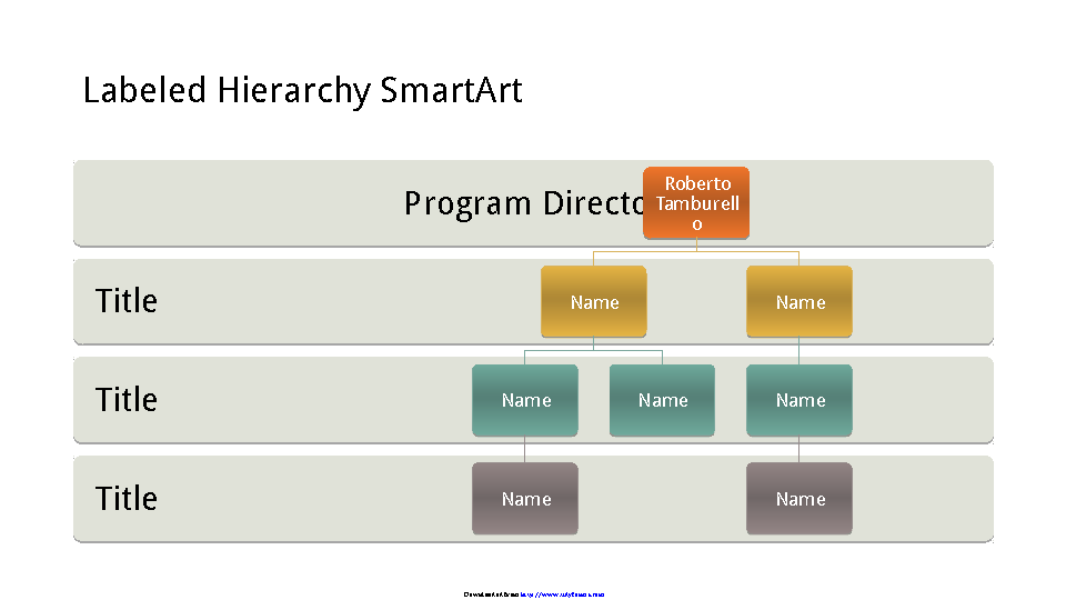 Business Organizational Chart Hierarchy Widescreen
